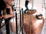 Co-Founder Jonas Berg and team building the 1st Distillery